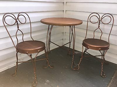 Vintage Child's Bistro Ice Cream Parlor Set ~ Table & 2 Chairs