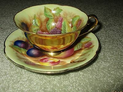 Beautiful Antique Lamore China Handpainted Fruit Tea Cup Occupied Japan Usa Gzl