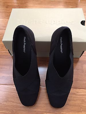 Hush Puppies Wendi Black Ladies Shoes Size 36