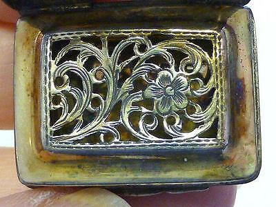 1829 John Lawrence VINAIGRETTE Sterling Silver Box Floral Pierced Grill JANE
