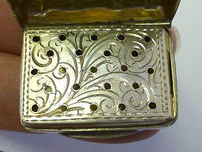 1901 Hilliard & Thomason VINAIGRETTE Sterling Silver Box Rectangle