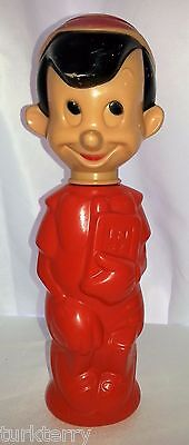 Vintage Walt Disney's Pinocchio Cartoon Character Colgate Soaky Bottle Container