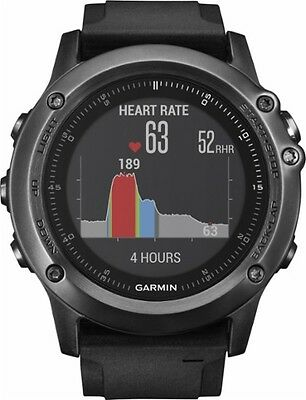Garmin - fenix 3 HR GPS Heart Rate Monitor Watch - Gray  BRAND NEW