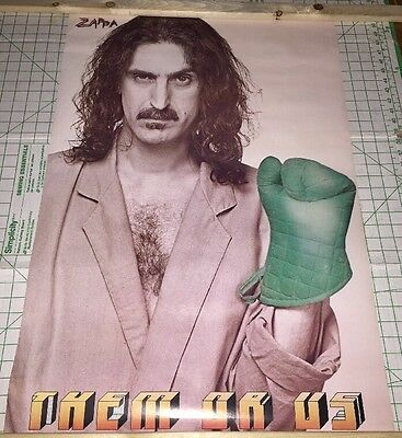 Frank Zappa 23x33 Them Or Us Subway Music Poster 1984
