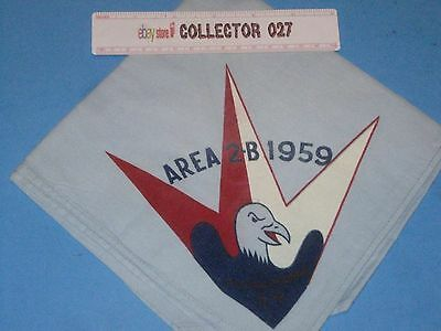 Boy Scout OA Neckerchief Area IIB 2B Allemakewink 54 1959 New Jersey