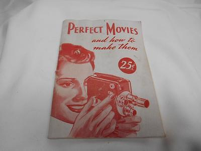"""Old Vtg 1947 Camera Corp. INSTRUCTION MANUAL """"Perfect Movies How To Make Them"""""""