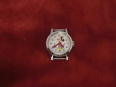 Walt Disney Productions Bradley Mickey Wind Up Watch from 1960's NO Band HK
