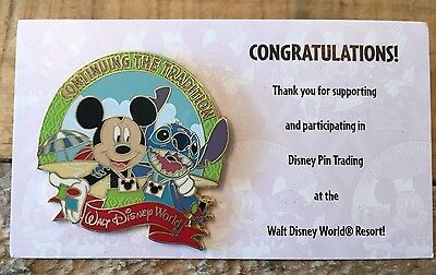 Disney Pins / CAST MEMBER EXCLUSIVE / Continuing the Tradition / Mickey & Stitch
