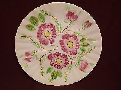 "Blue Ridge Wild Rose Dinner Plate10 1/4"" Hand Painted Southern Potteries USA"