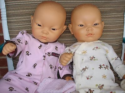 REAL Boy & Girl Berjusa Oriental Asian vinyl anatomically correct baby dolls EUC