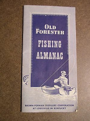 Old Forester Whiskey Fishing Almanac
