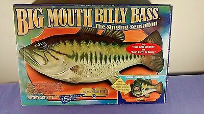 Big Mouth Billy Bass The Singing Sensation Battery Operated Motion Sensor