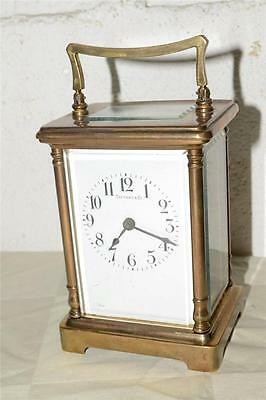 Antique TIFFANY & Co. Mechanical FRENCH Made CARRIAGE CLOCK Brass FRANCE
