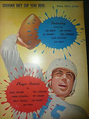 1953 Souvenir Grey Cup Year Book Bue Bombers-Tiger Cats