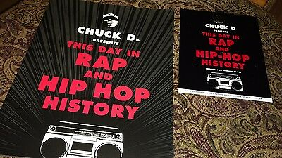 Chuck D Public Enemy promo pin This day in Rap and Hip Hop History promo booklet