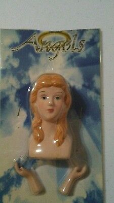 "ANGELS 3"" Porcelain Doll Parts Head and Hands 1 Set"