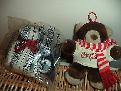 Coca-Cola Coke Plush Bears.