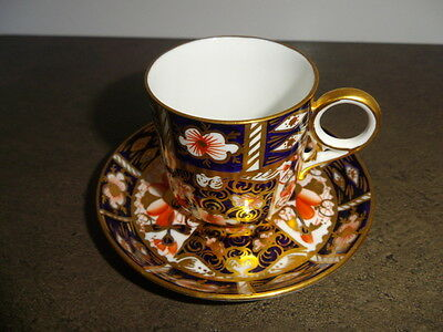 Antique Royal Crown Derby Coffee  Can And Saucer