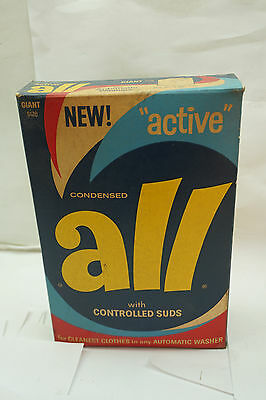 Vintage Laundry Detergent Advertising Soap New Active All Unopened Box 3Lbs