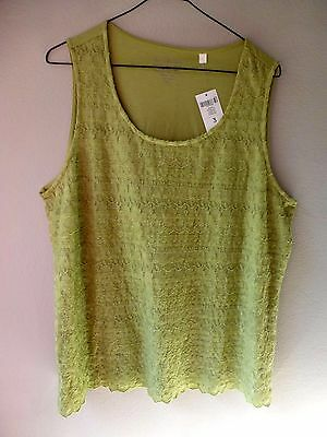 New Chicos Lace Sleeveless Tank Top  Sweet Pea Size 3 1X 18 Fully Lined, Nwt