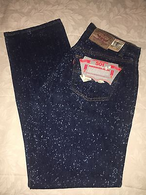 Vintage Levi's Galactic Wash 501 36x32 Rare 1987 Speckled Spotted