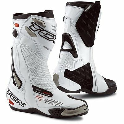 TCX  R-S2 Road Motorcycle Boot-White Size 44/10