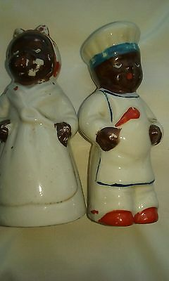 mammy salt and pepper shakers Americana 4 inch