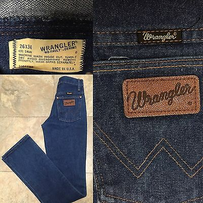 Vintage Wrangler No Fault Denim Jeans High Waist 26 X 34 Made In USA