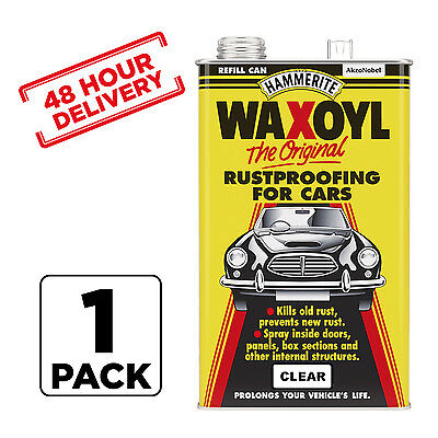 1 x Hammerite Waxoyl Car Rust proofing Treatment CLEAR 5 Litre 48 hour Delivery