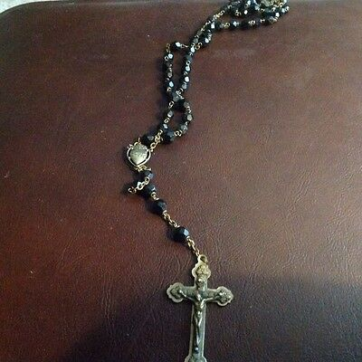 Vintage Catholic Rosary Beads From Italy & Blessed By Pope John Paul II