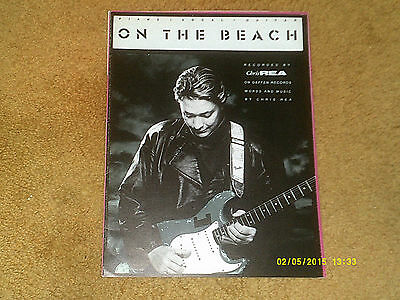 Chris Rea sheet music On the Beach 1989 7 pages (VG+ shape)