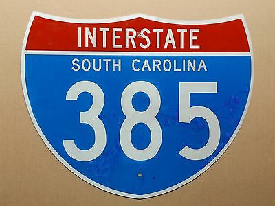 South Carolina I-385 interstate 385 highway route road sign shield USED REAL