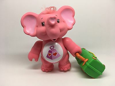 1980s Vintage Care Bears Cousin LOTSA HEART Elephant w/ Suitcase Poseable Figure