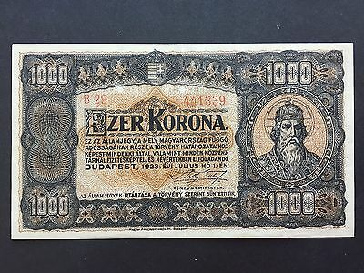 Hungary 1000 Korona P75 Second Issue 1st July 1923 VF+