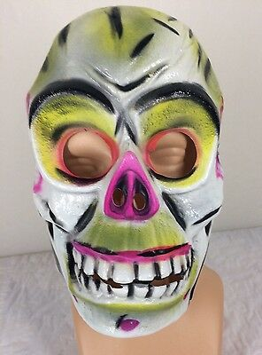 Vintage Skeleton Halloween Mask Adult Monster Costume