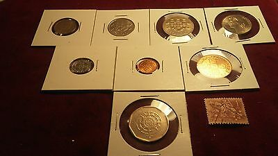 Portugal PROOF LIKE uncerculated coin lot -w/ old 1 ESC. Stamp