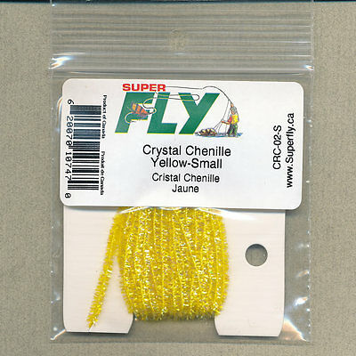 Crystal Chenille small - yellow - 3 yd card