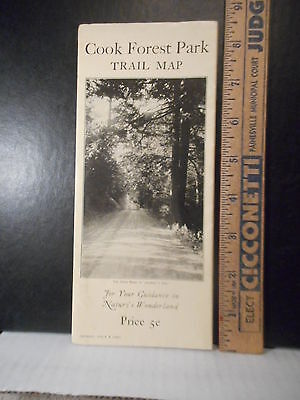 Pennsylvania Cook Forest State Park 1938 Trail Map Brochure  618TB.