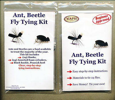Fly tying kit - ant, beetle