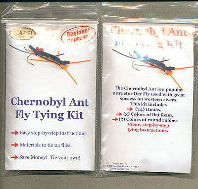 Fly tying kit - chernobyl ant