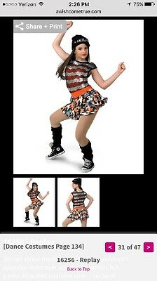 Orange Black Silver White Tap Jazz Competition Dance Costume