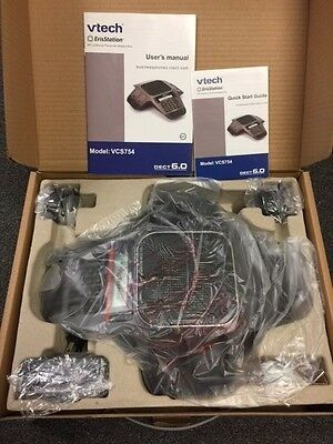 Vtech VCS754 ErisStation Conference Phone with 4 Wireless Microphones VoIP and D