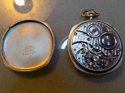 Illinois Pocket Watch 17 Jewel Size 12s Not working for repair or parts