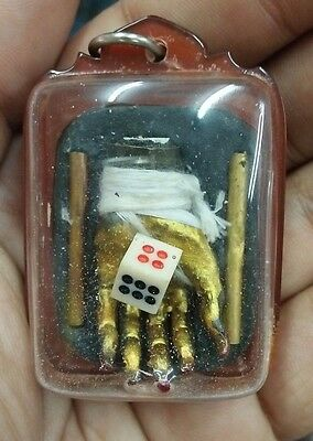 Prai Gambling Ghost Hand Thai Amulet Love Charm Talisman Magic Occult Pendant