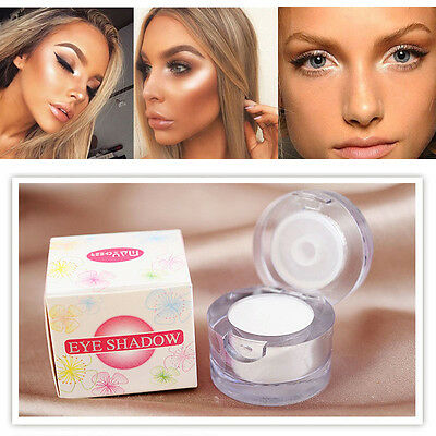 Water Oil White Glitter Eye Shadow Powder Blusher Concealer Highlighter Makeup