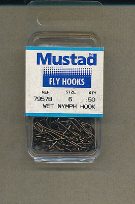 Mustad 7957B - Wet Fly - size 06 -  qty 50