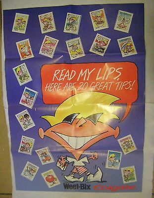 Colgate Toothpaste 'Read my Lips Here are 20 great tips' completed poster/cards