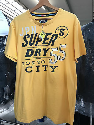 T-Shirt Superdry moutarde homme neuf Taille XL