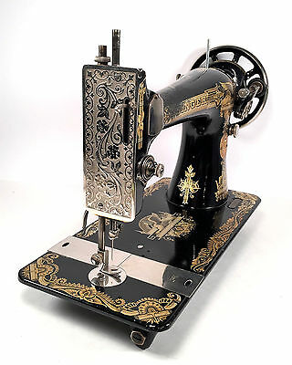 SINGER Model 127 Sewing Machine Head for Treadle or Hand Crank~Sphinx Decal 20's