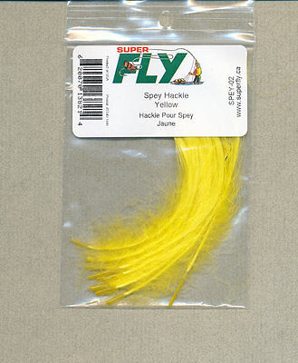 Spey hackle - yellow